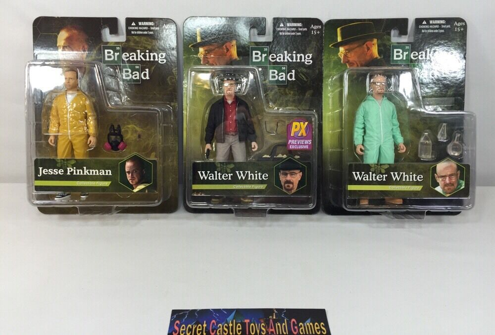 Breaking bad 3 actionfiguren 2 walter Weiß (1 px exklusiv) & 1 jesse Rosaman