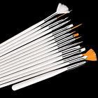 15pcs Cosmetic Nail Art UV Gel Design Brush Set Painting Pen Manicure Tips Tools