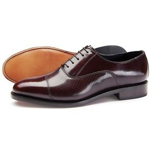 Samuel-Windsor-Men-039-s-Shoes-Chichester-Oxblood-Leather-Oxford-UK-Sizes-5-14-NEW