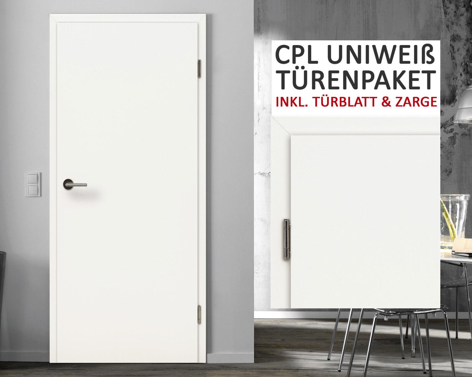 Kuporta CPL Zimmertüren Innentüren Uni Weiß weiss Innentür Tür mit Zarge Türen