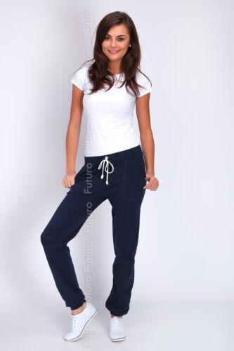 Women Sport Stylish Cuffed Pants Jogging Bottoms Pockets Joggers Track Sport DK