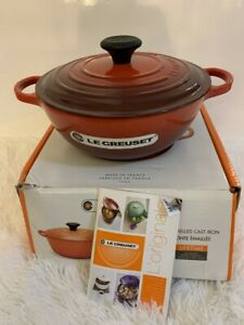 Le-Creuset-Oval-Chef-039-s-French-Oven-3-5-qt-3-1L-Cerise-New-Open-Box