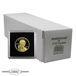 25-Guardhouse-2x2-Tetra-Plastic-Snaplocks-Coin-Holders-for-Small-Dollars