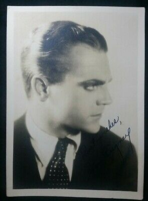 Autographs-original Vintage Hollywood 1930's James Cagney Signed Autographed Photo 5x7