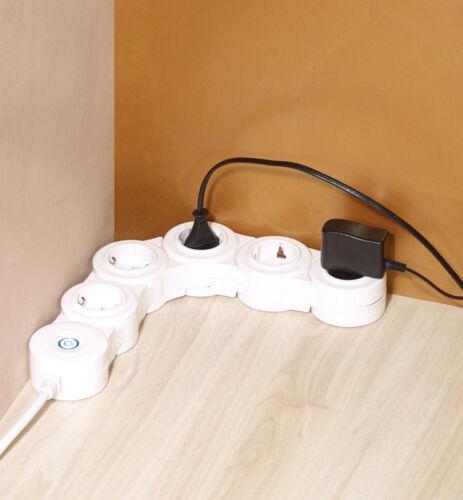 REVOLT Multiprise flexible 5 ports avec interrupteur