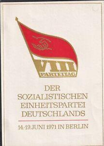 DDR-Gedenktblatt-Der-Sozialistischen-Einheitspartei-Deutschlands-1971-Berlin