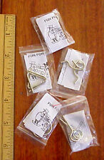 Metal Twisted Wire Brain Teaser Lot of Five Different Puzzles Pkg/ Directions