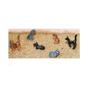 6-Assorted-Cats-OO-Scale-Unpainted-Langley-F144