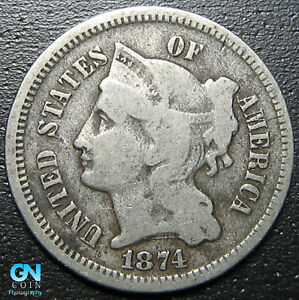 1874-3-Cent-Nickel-Piece-MAKE-US-AN-OFFER-R9155