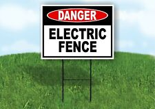 Danger Electric Fence Plastic Yard Sign Road Sign With Stand