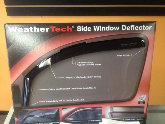 2010-2015 WeatherTech Side Window Deflectors for Honda Crosstour Light Tint