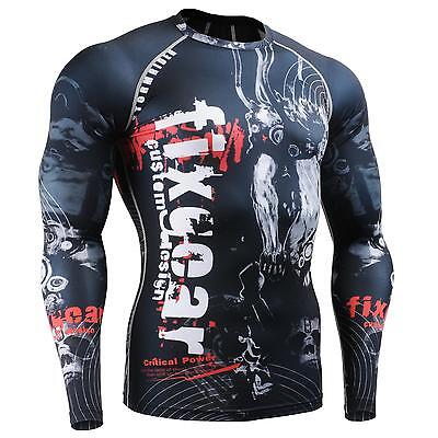 FIXGEAR CFL-30 Compression Base Layer Shirts Under Skin Tight Gym Training MMA