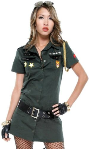 Forplay Ladies 2 Piece Army Seductress Costume UK Size M//L 10-12 New.