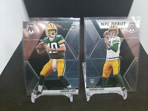 2020 Panini Mosaic Jordan Love - Packers Rookie Base & NFL Debut