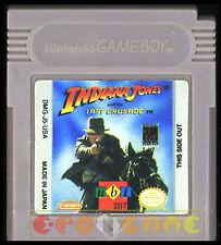 INDIANA JONES AND THE LAST CRUSADE Gameboy Game Boy Ver Americana •••• CARTUCCIA