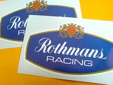 ROTHMANS RACING Classic Race Rally Motorsport Stickers Decals 2 off 125mm