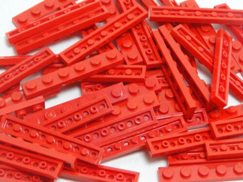 Lego 50 x Platte 1x6  Rot Legostein  Basic 3666
