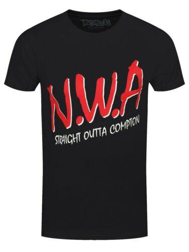 NWA T-Shirt Straight Outta Compton Men/'s Black