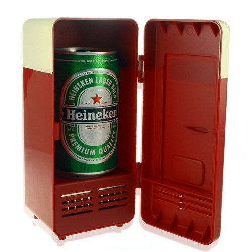 Mini Red Retro Refrigerator Design USB Powered Cooler and Heater