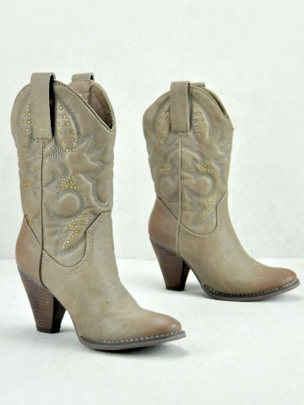 Very Volatile   Volatile  Dallas Cowgirl Stiefel Taupe c110c2