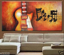 YAKAI Hand-painted oil painting on canvas Music Guitar Violin No frame 20x40""