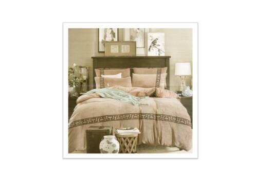 Decorative Velvet Lace Quilt Duvet Cover Fitted-Valance Sheet Pillow Cases Set