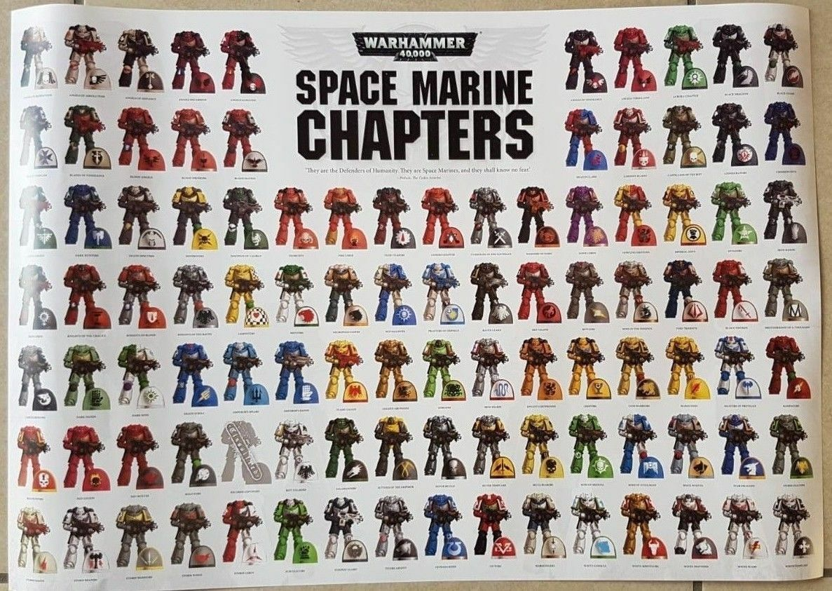 Games Workshop Warhammer 40000 Conquest Magazine Space Marine Chapters A2 Poster