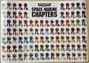 Atelier des jeux Warhammer 40000 Affiche du chapitre 2 des chapitres de l'espace marin du magazine Conquest