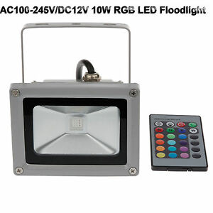 10w rgb led floodlight au enleuchten fluter ip65 mit teleskop stativ baustrahler ebay. Black Bedroom Furniture Sets. Home Design Ideas