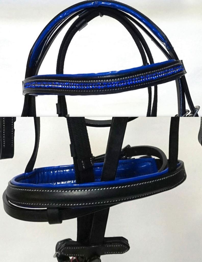 Cob Completo Pony black con   blue Real Cinta Cristales Inglés
