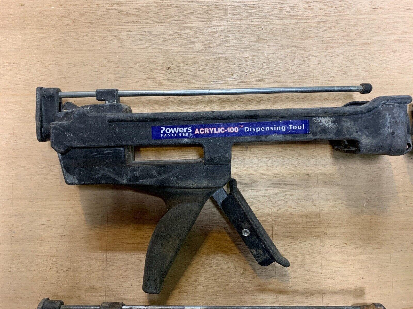 Powers Acrylic-100 Concrete Adhesive Dispensing Tool Caulk Gun