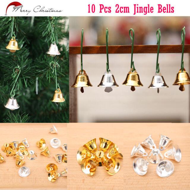 9Pcs Christmas Gold Bells Hanging Pendants Ornaments Home Party Xmas Tree Decor