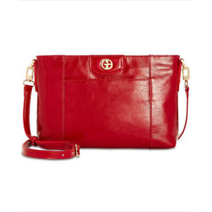 Giani-Bernini-Bark-Patent-Crossbody-NEW-OSFA-MEDIUM-RED