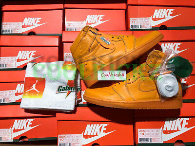 """Nike Air Jordan 1 Retro I High Og /""""GATORADE/"""" Orange Peel AJ5997-880 Men SZ 8-13"""