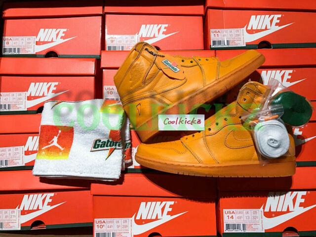1c0f8f57bc23 Air Jordan 1 Retro Hi OG Aj5997-880 G8rd Gatorade Orange Size 9 for ...