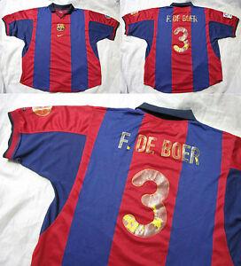01d950588f2 Frank de BOER  3 Barca 2000-2001 NIKE FC Barcelona HOME shirt jersey ...