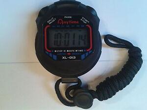 Chronomètre Montre Multifonction Alarme Sport 1/100 Sec Précision Professionnel