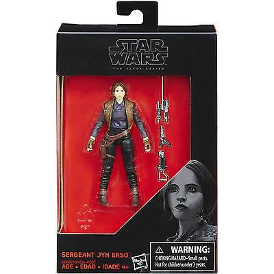 "Star Wars Hasbro Black Series 3.75"" Rogue One W4 # Sergeant Jyn Erso US"