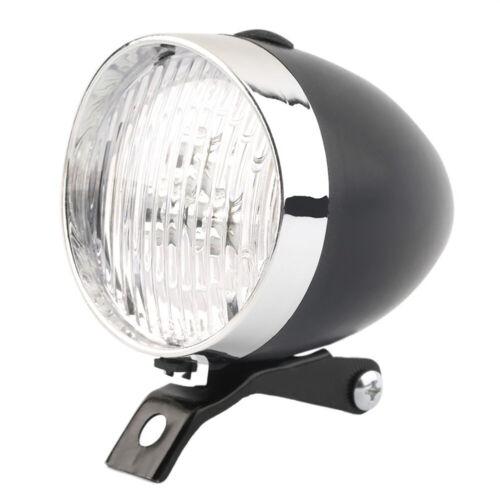 Bicycle Vintage Headlight Bike 3LED Retro Front Head Light Headlamp helmet Lamp