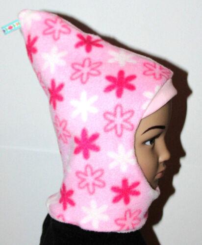 pink Fleece Mädchen Kinder DaWanda Wintermütze Zipfelmütze rosa
