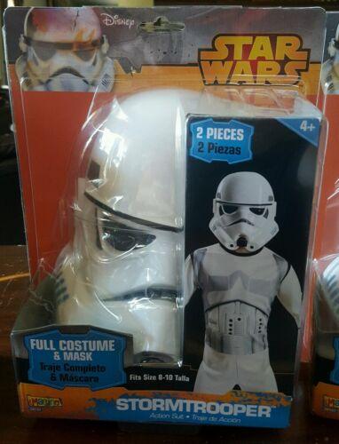Disney Star Wars Storm Trooper Child Costume Role Play Set Halloween Sz 8-10