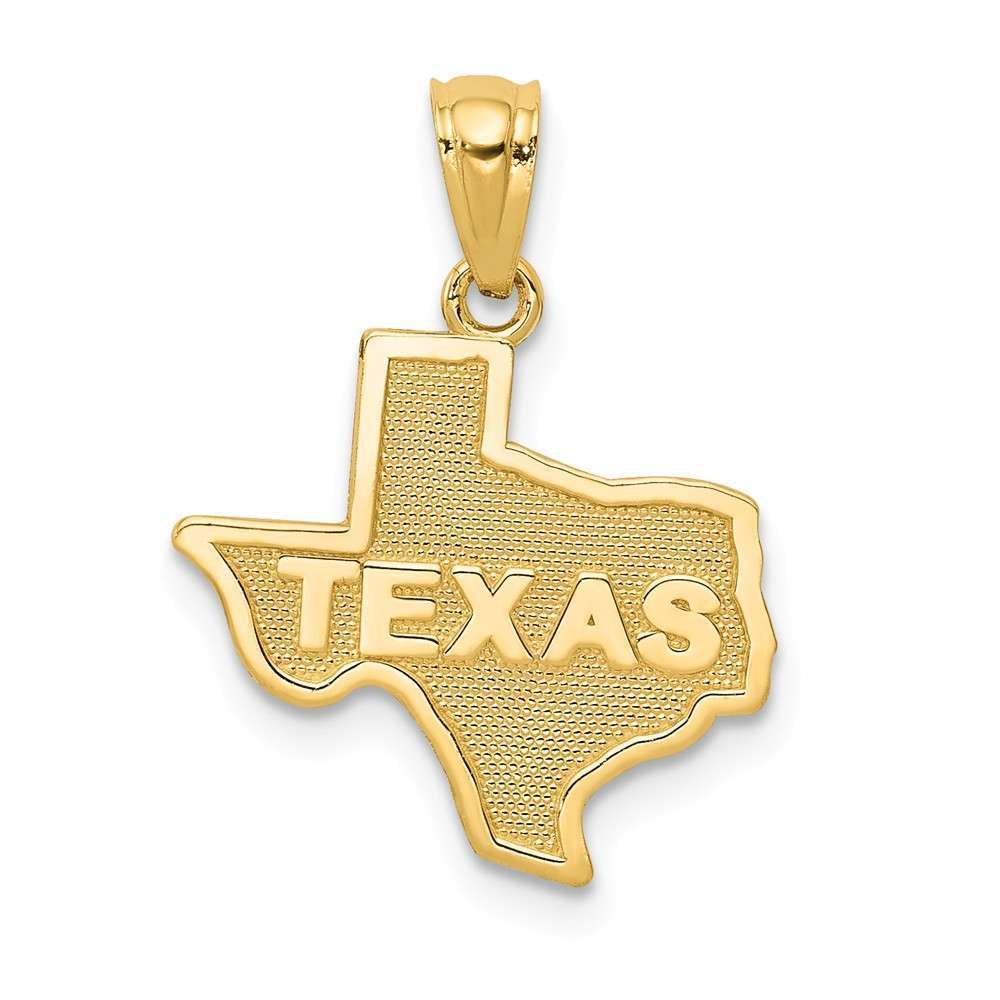 14K Yellow gold State Of Texas Pendant