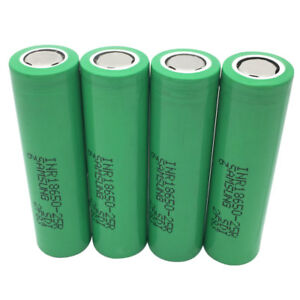 4pcs-18650-25R-2500mAh-INR-3-7V-Li-ion-Battery-Rechargeable-High-Drain-for-Mod