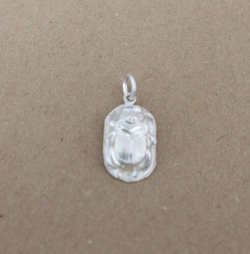 Käfer CBC-76 Skarabäus ägyptischer Silber  Glücksbringer, 25 x 12 mm