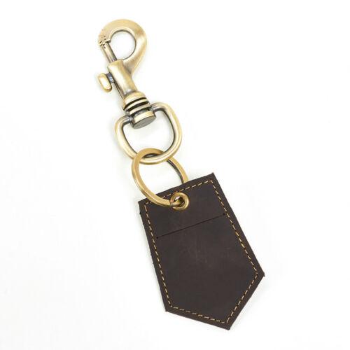Genuine Leather Car Key Hook Housekeeper Key Coin Purse Keyring Men Keychain