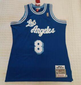 Throwback Swingman Kobe Bryant #8 Los Angeles Lakers Blue Mens ...