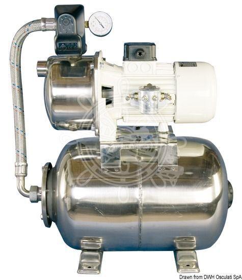 Osculati CEM Autoklav 12 V 50 l/min 20l-Edelstahlbehalter