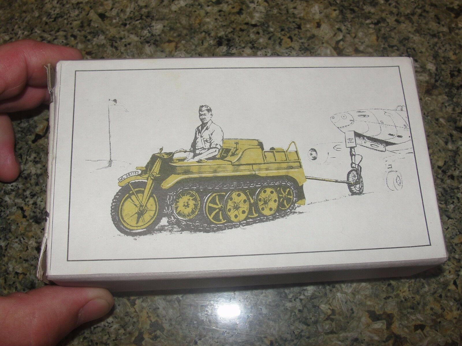 RARE vintage KETTENKRAD me262 towbar set KNIGHTS CROSS prod WWII 1 48 scale mode