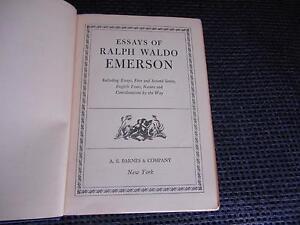 Antique-Book-ESSAYS-OF-RALPH-WALDO-EMERSON-Essays-1st-amp-2nd-Series-English-trait