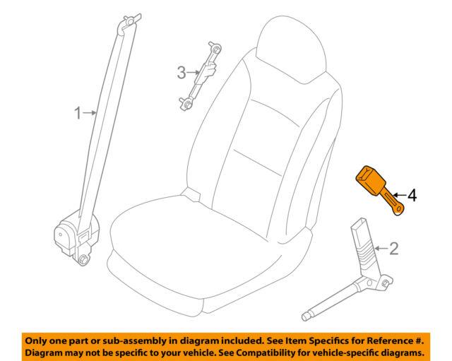 hyundai oem 13 15 santa fe front seat belts buckle right rh ebay com hyundai seat belt replacement hyundai ix35 seat belt replacement